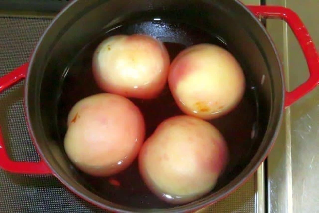 桃のコンポートの作り方