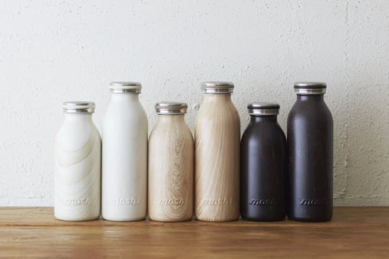 mosh!ボトル ミルク木目調デザイン