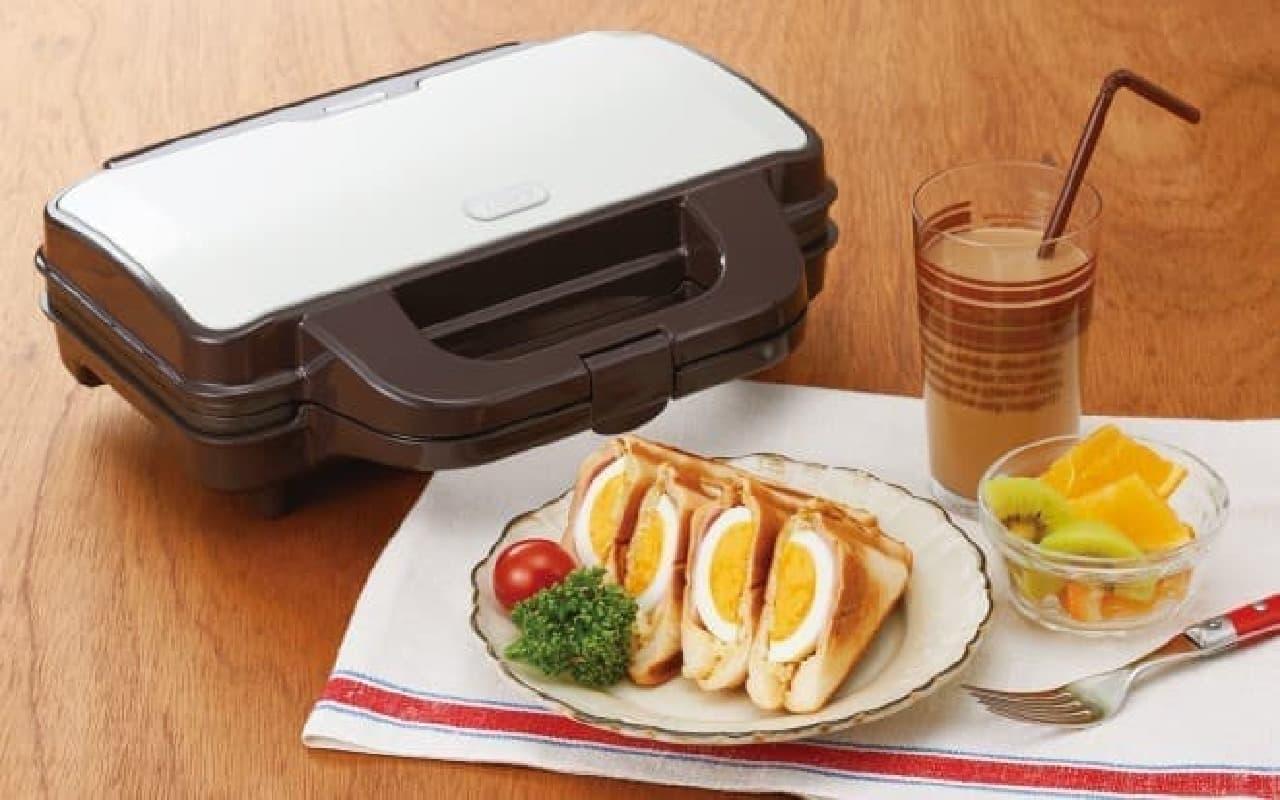 「toffy」キッチン家電シリーズ ホットサンドメーカー