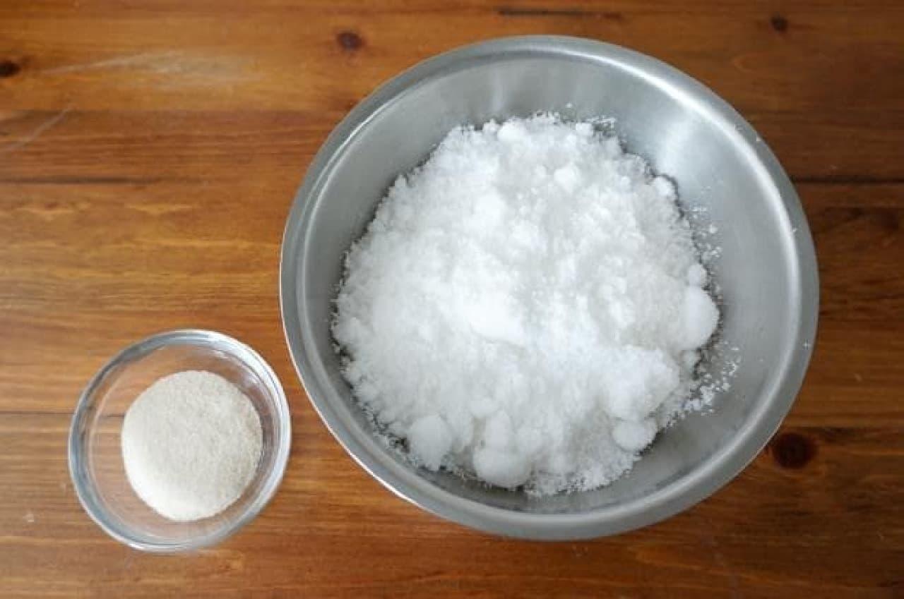かき氷シロップで琥珀糖
