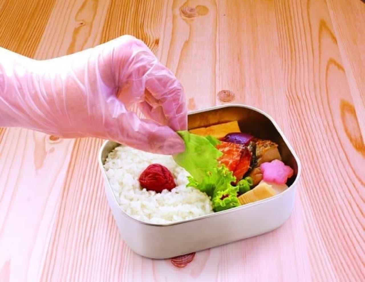 ファミリー お料理にぴったり手袋 フリーサイズ 半透明20枚