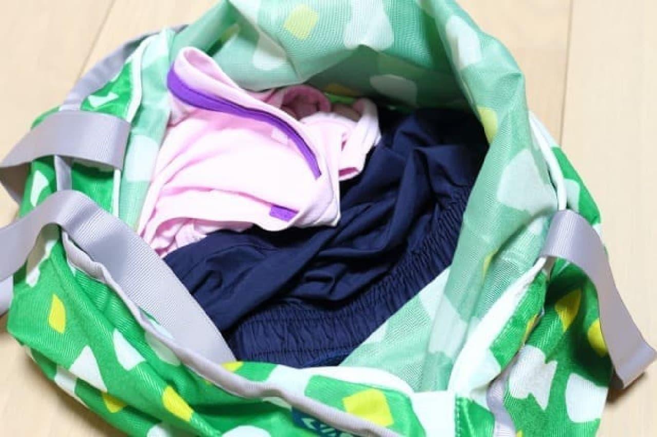 バッグにもなる洗濯ネット「ランドリートートバッグ」