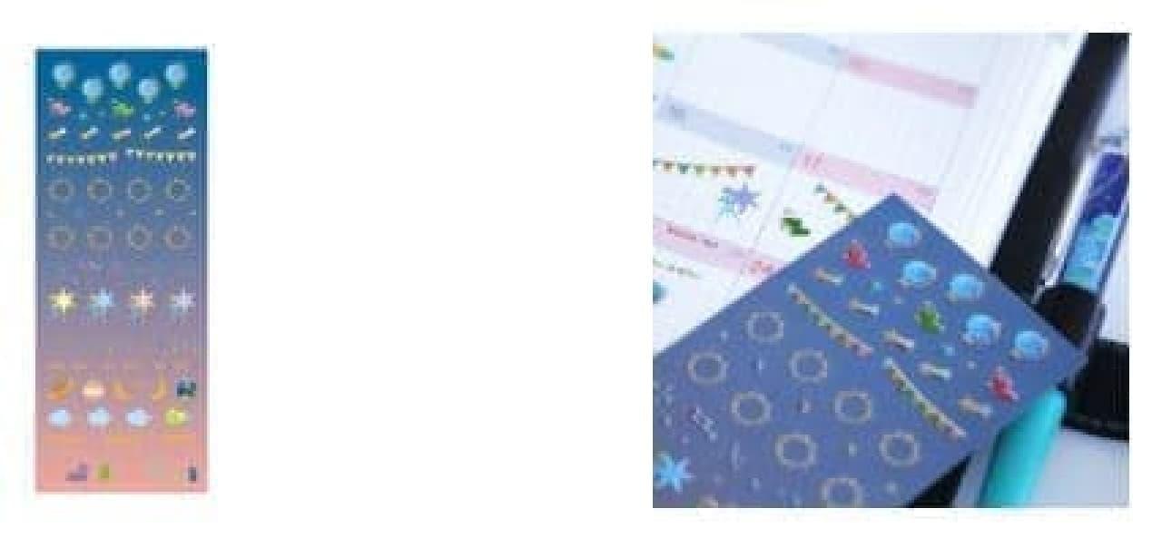 天体や星空をデザインしたビクセンのレターセットとスケジュールシール