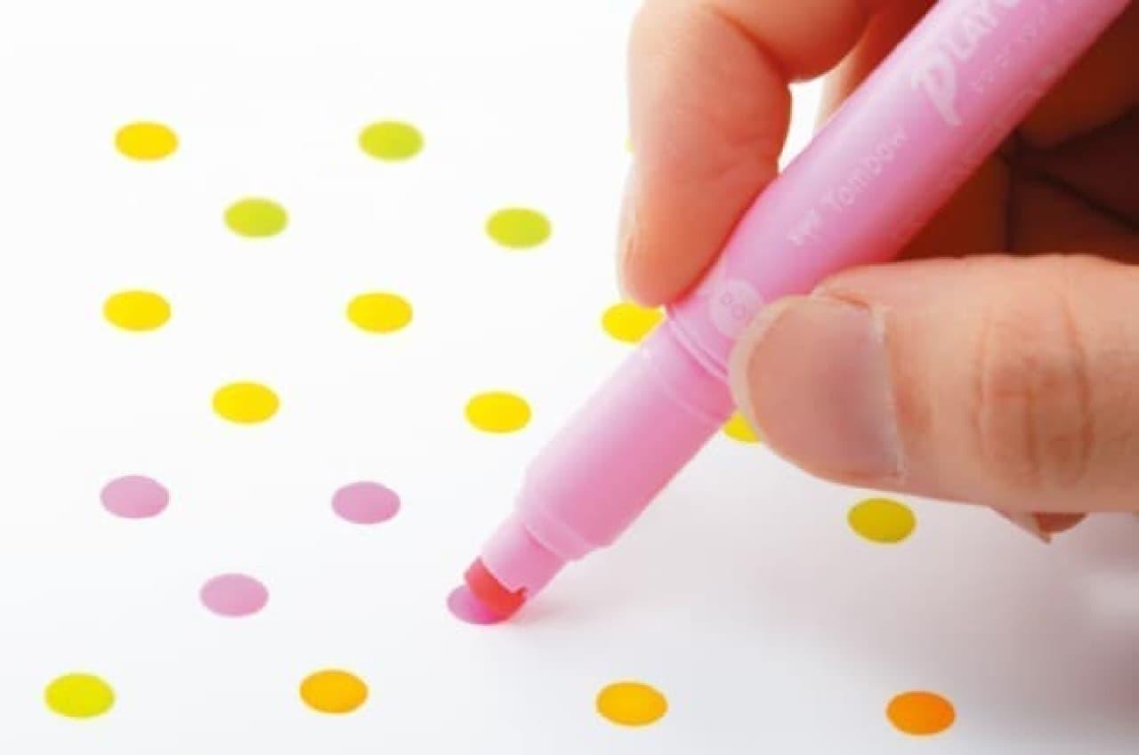 丸スタンプ芯付きサインペン「プレイカラードット」