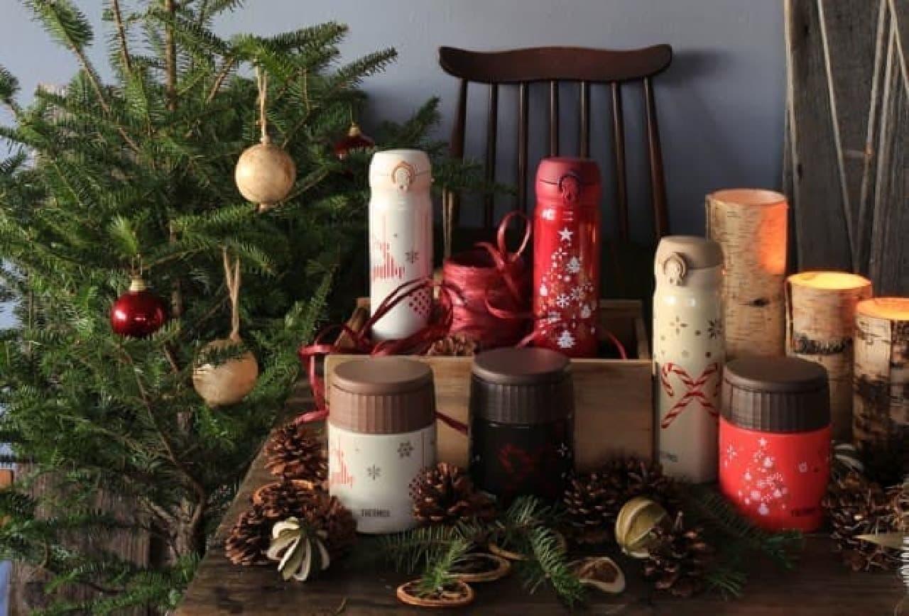 サーモスからクリスマスシーズン向けのケータイマグとスープジャー