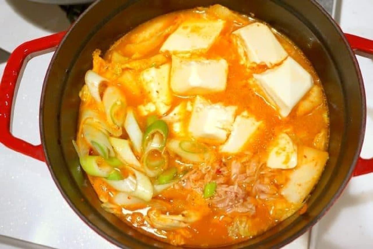 ローソンストア100の鍋つゆレシピ