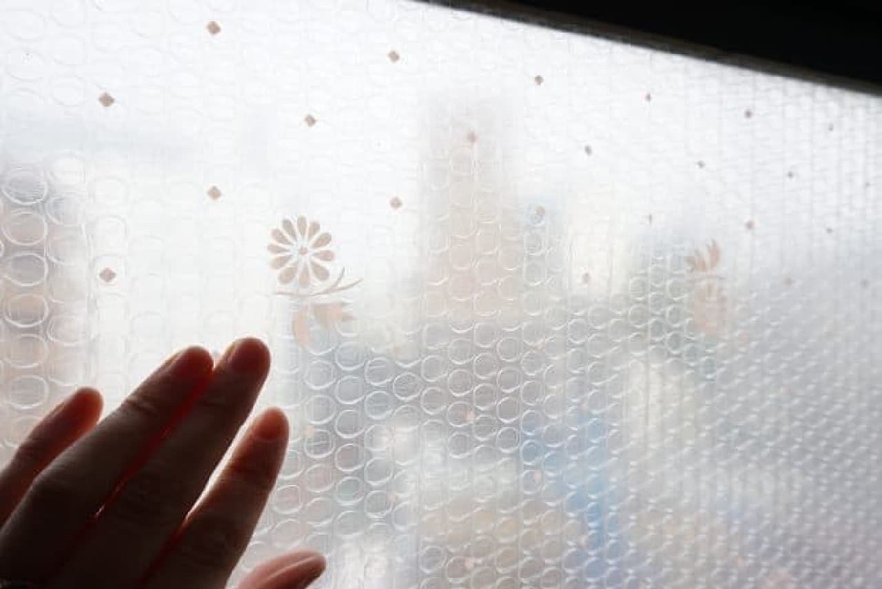 ニトムズ「窓ガラス断熱シート凹凸ガラス用」