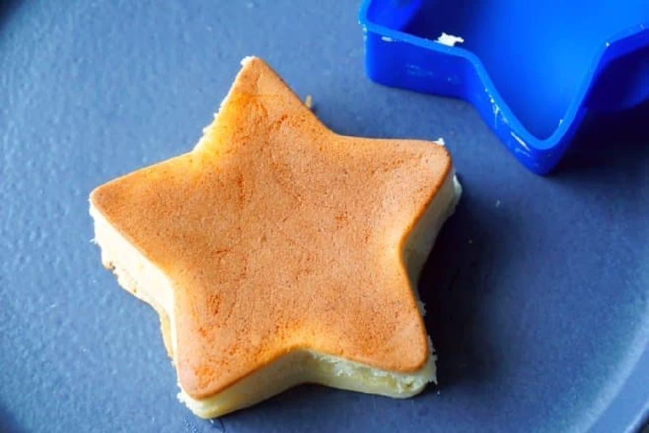 100均「スター厚焼きホットケーキ型」
