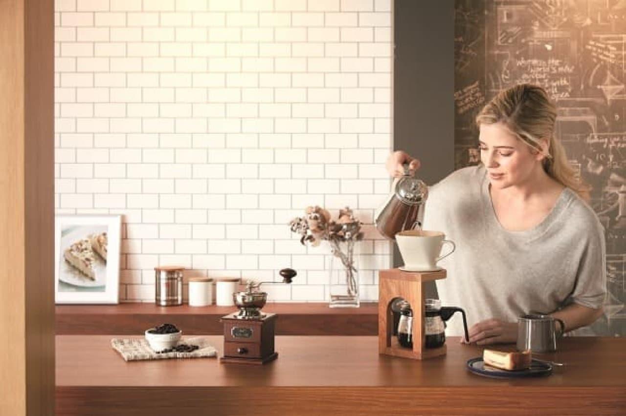メリタジャパンのコーヒーキャニスター「ステンレスキャニスター<さくら>」