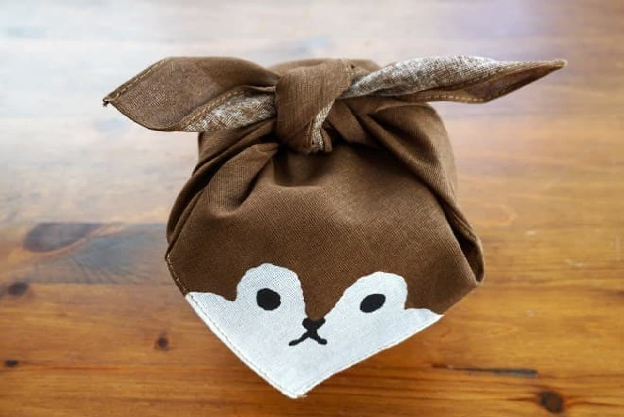 キャンドゥ「ラッピングミニ風呂敷」柴犬、ハチワレ猫、リス、うさぎ