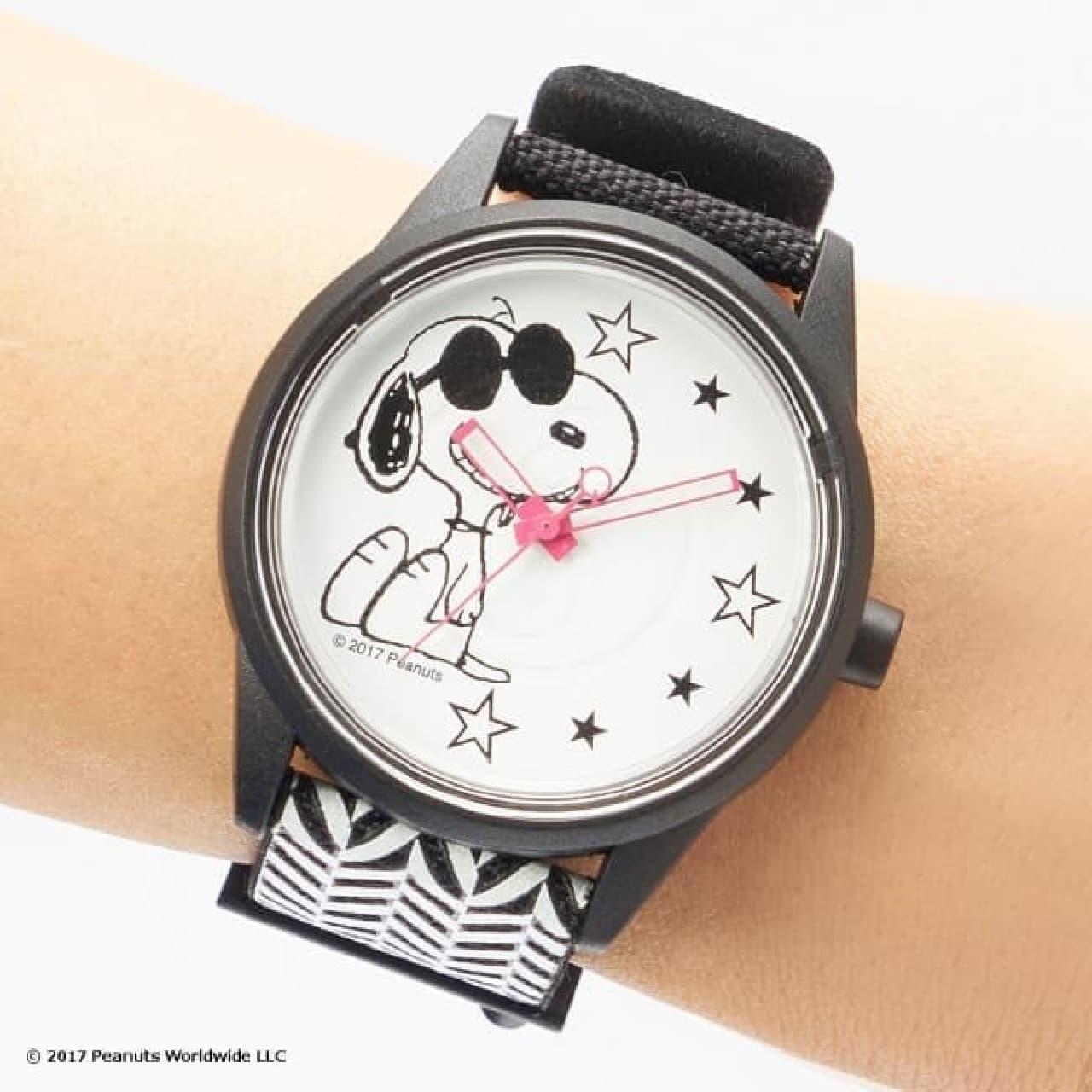 スヌーピーとソーラー腕時計「スマイルソーラー」のコラボアイテム