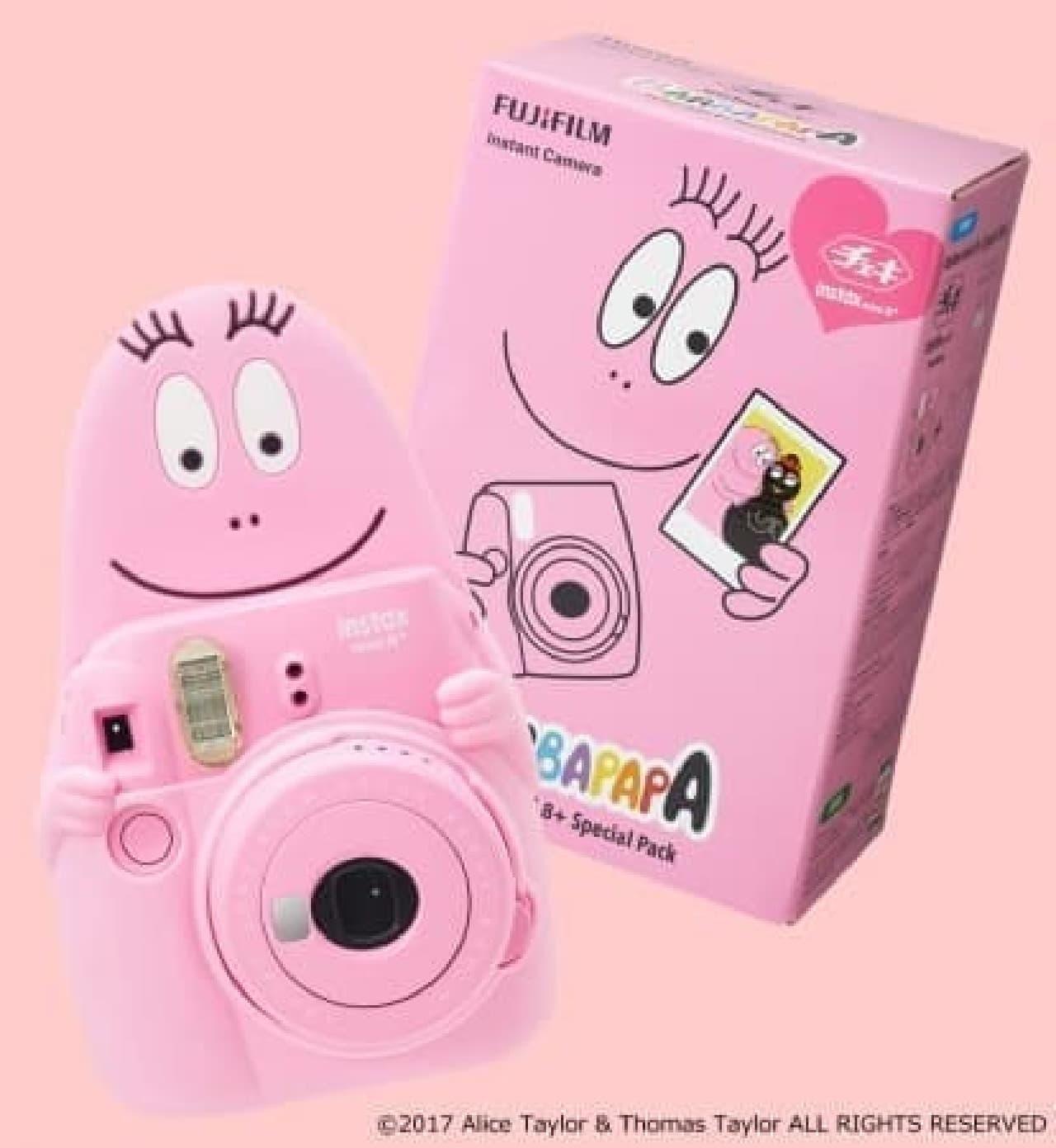 インスタントカメラのチェキとバーバパパのコラボ商品がPLAZA・MINiPLAに