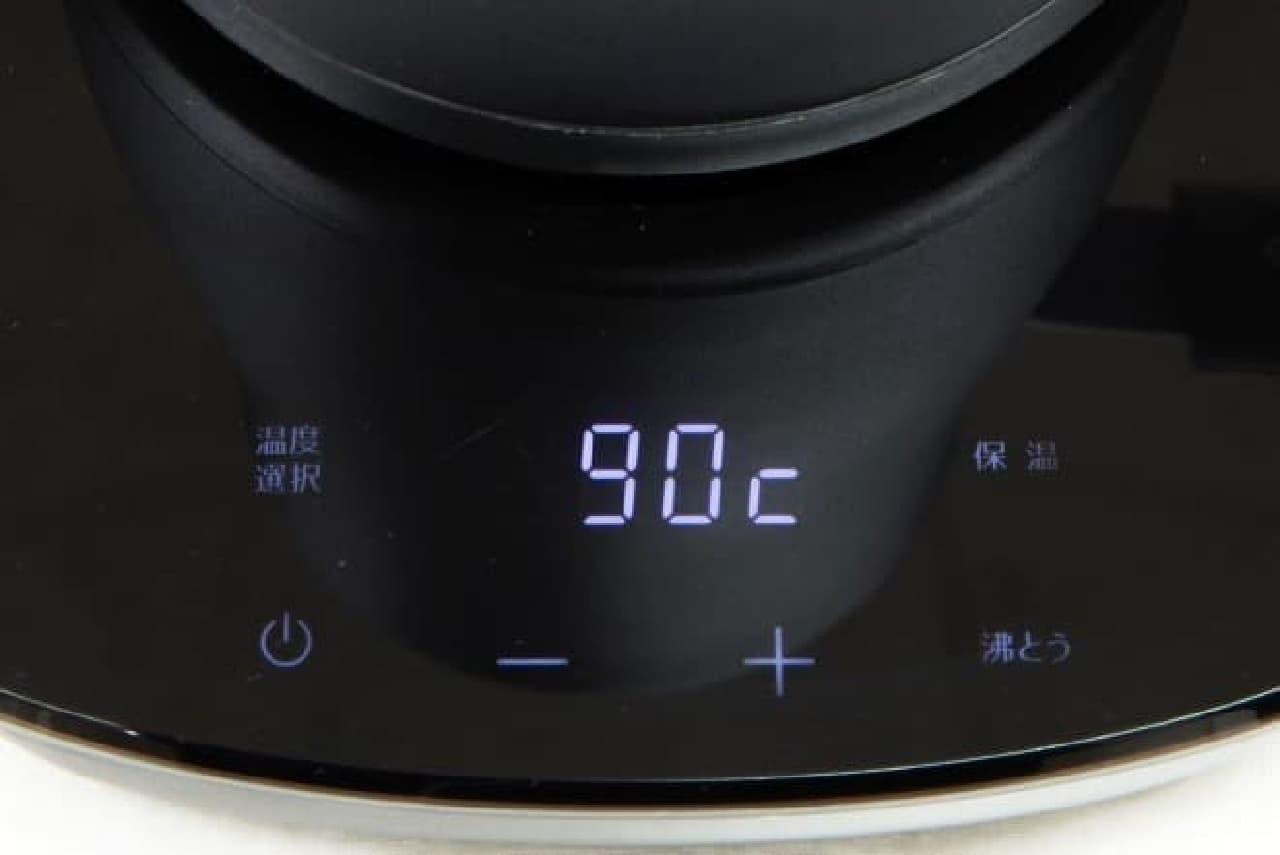 山善から1度単位で温度調節できる電気ケトル