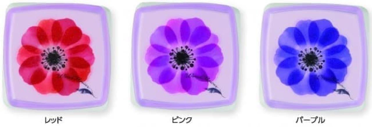 シヤチハタの印マット付朱肉 シクオス アネモネ柄シリーズ