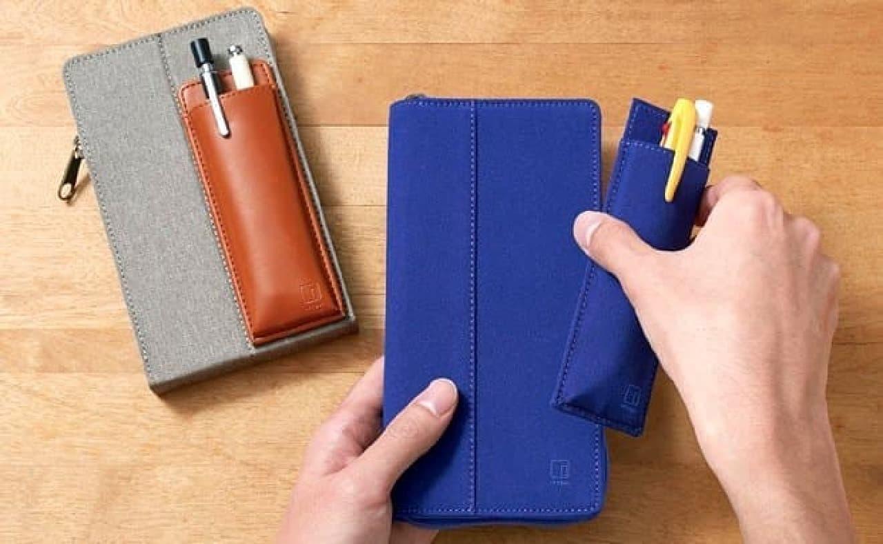 キングジム、持ち歩くペンの量を簡単に変えられるペンケース「イッツイ」