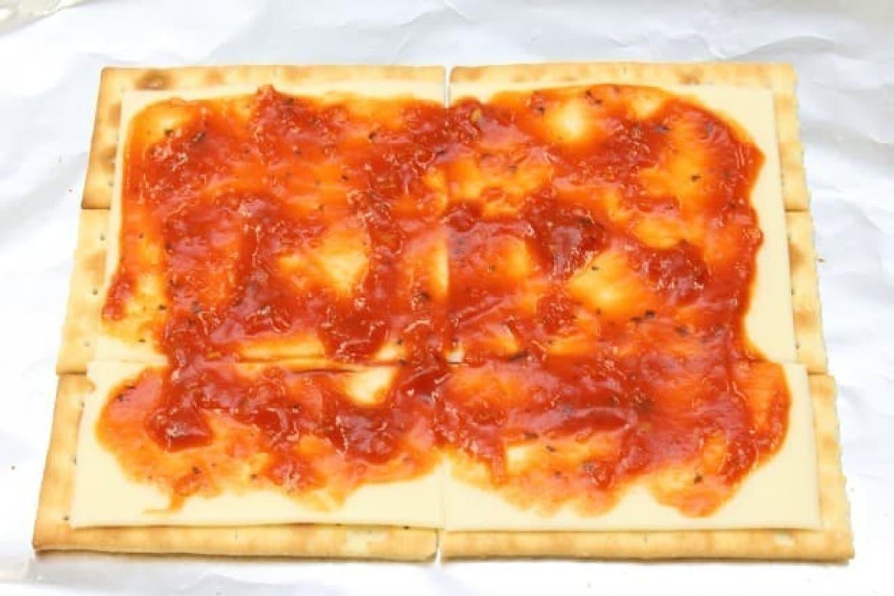クラッカーで作る簡単ピザ