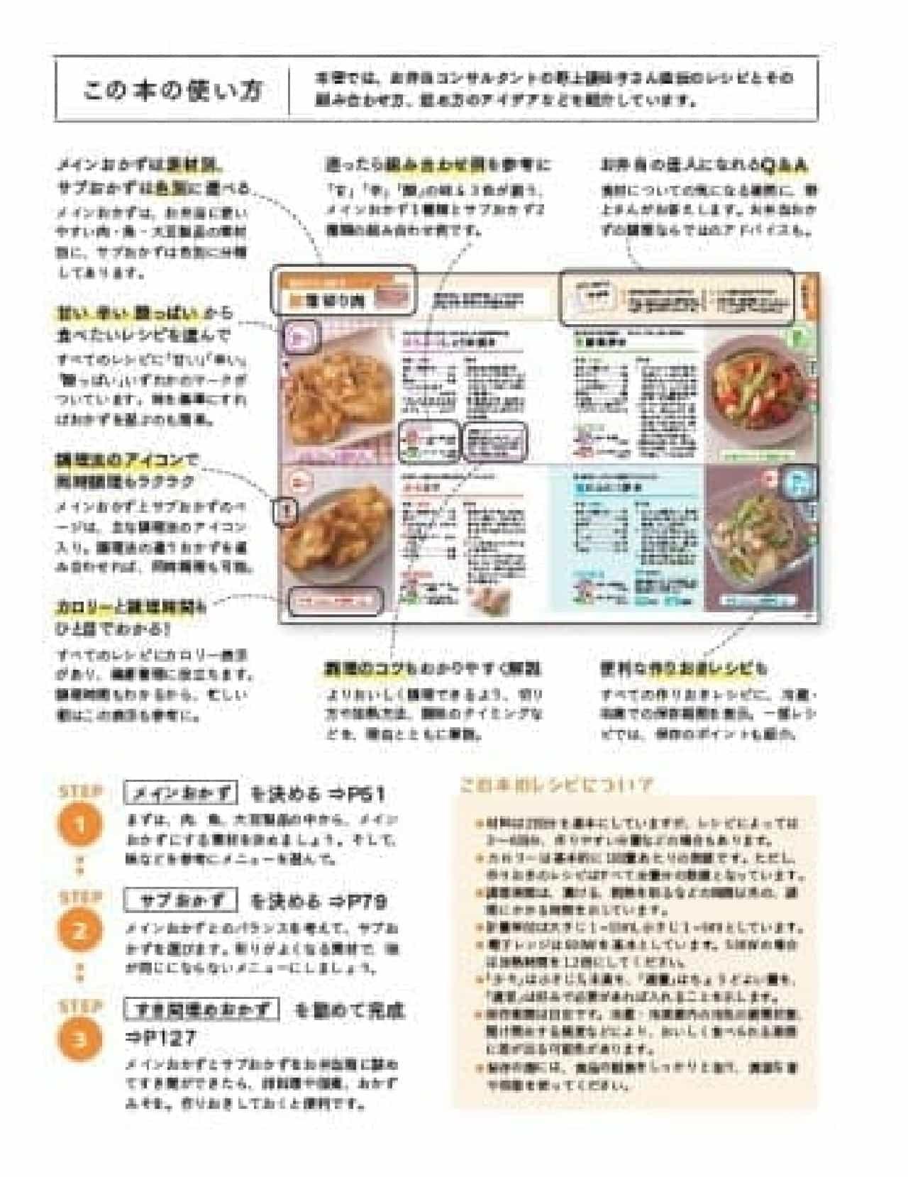 お弁当レシピ本「野上さんちの超ラクチン弁当」