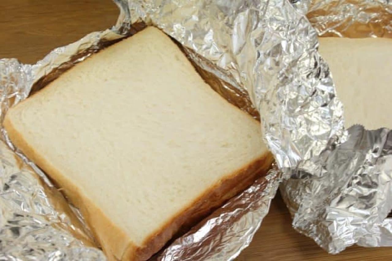 アルミホイルとトースターで作る簡単ホットサンドのレシピ