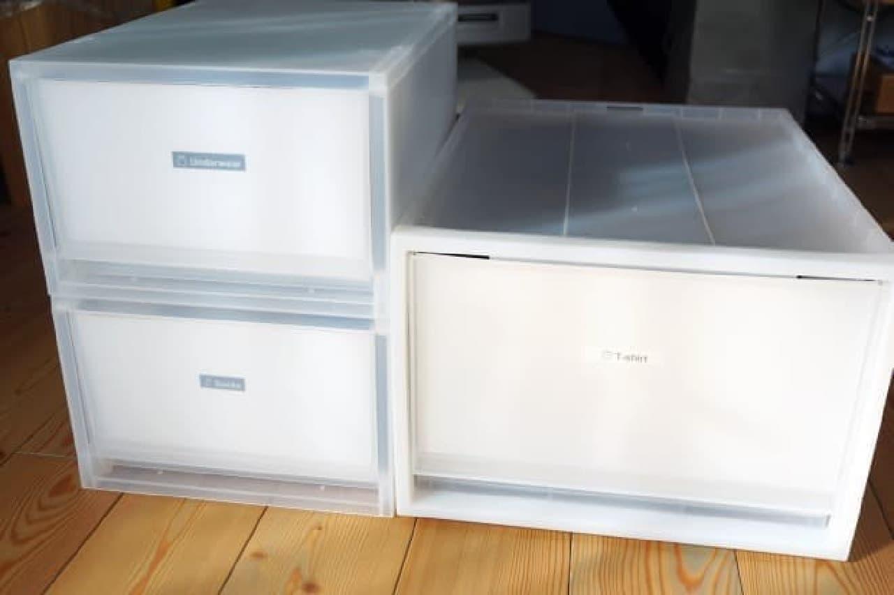 無印良品「ポリプロピレン収納ケース用フロントインデックス」. コレを作っちゃうのが無印です