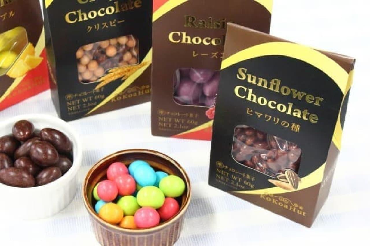 ダイソーのタイからの輸入品のチョコレート菓子「KoKoaHut」