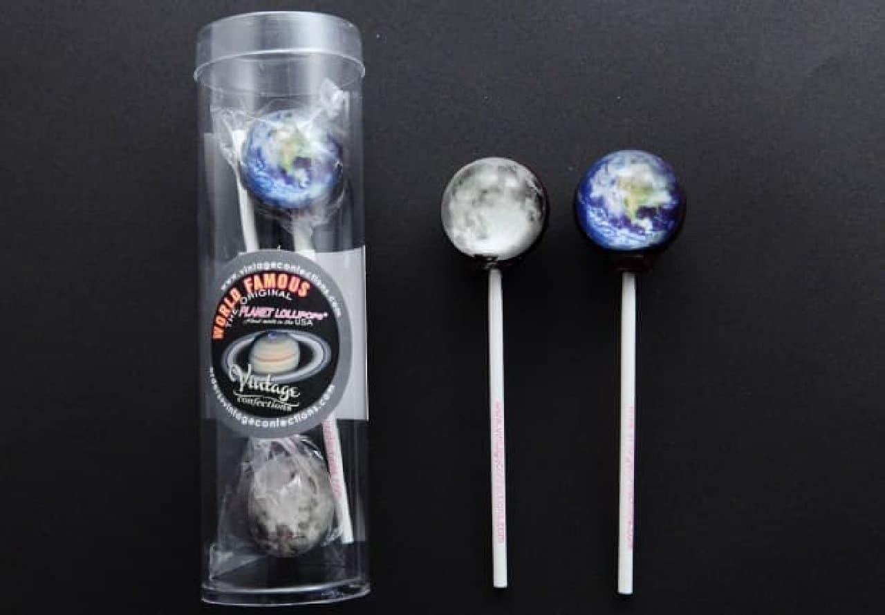 アンジェ web shop「惑星キャンディ地球と月セット」