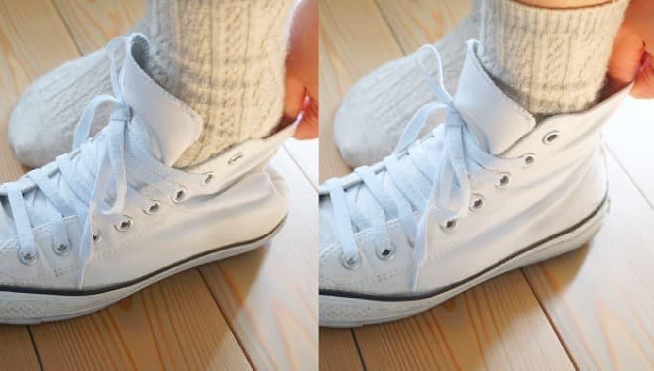 セリア「伸び~る靴ひも」