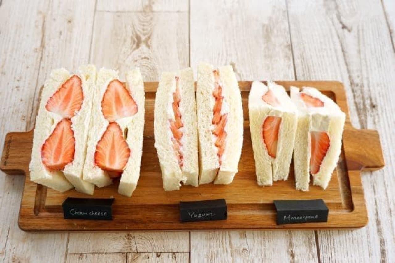 イチゴのフルーツサンドの作り方