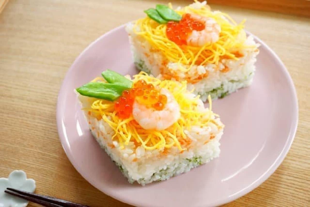 ひし餅風ちらし寿司の作り方