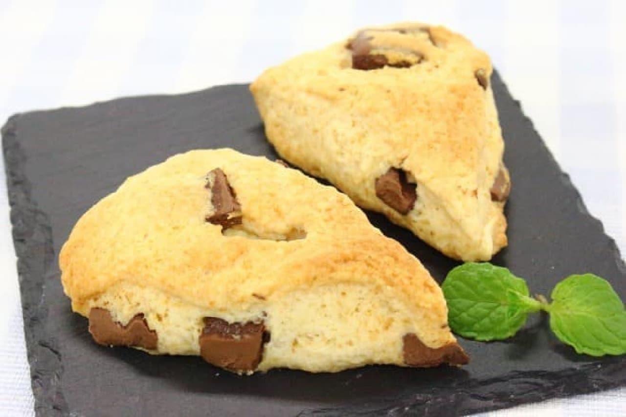 ホットケーキミックスと生クリームで作るチョコチャンクスコーンの簡単なレシピ