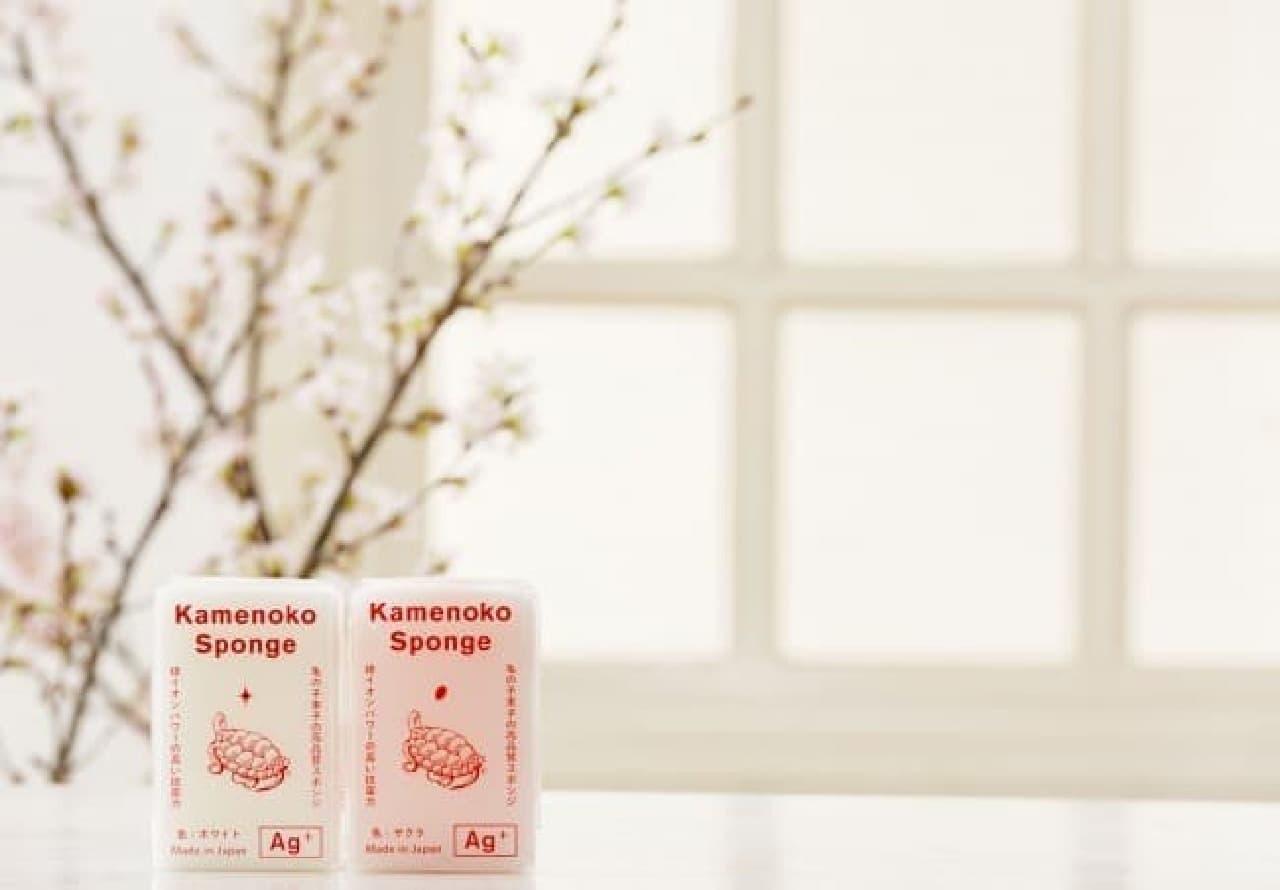 亀の子スポンジから春の新色「サクラ」