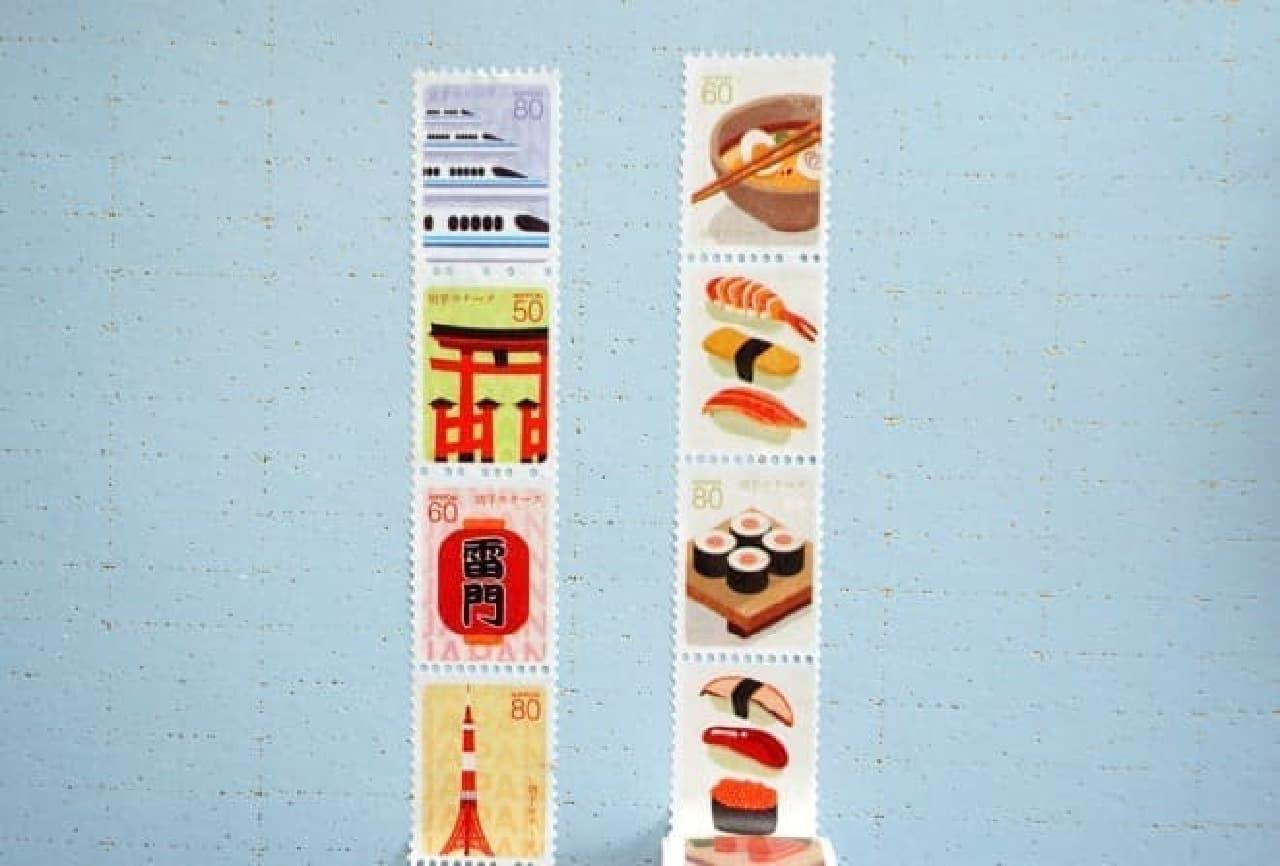 ダイソー「切手型マスキングテープ」