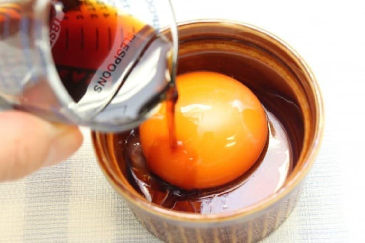 卵黄のしょうゆ漬けのレシピ