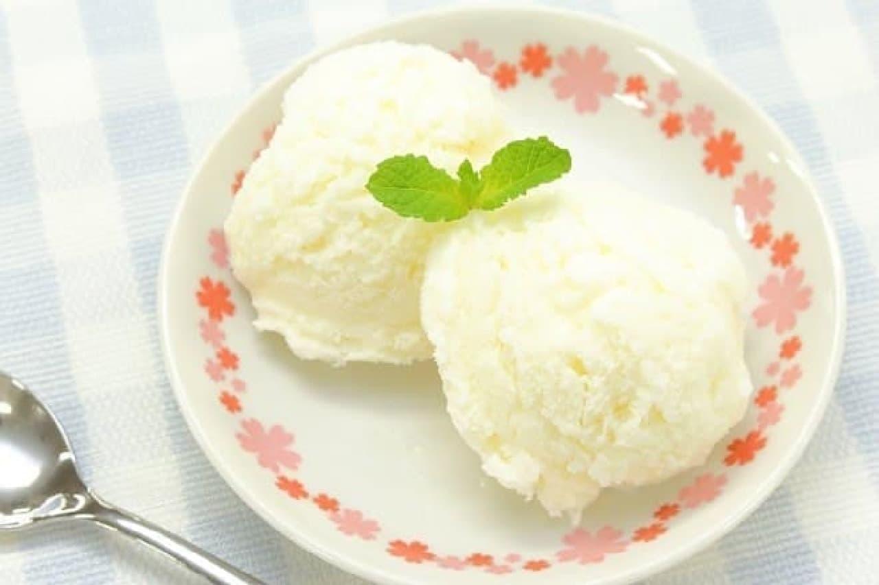 ミルクジェラートの簡単レシピ