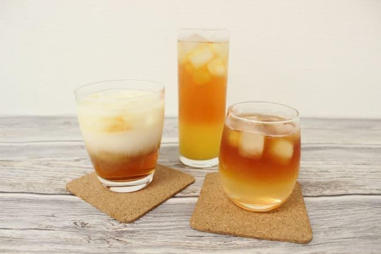 ひんやり冷たいドリンクのレシピ--ミキサー不要のスムージーやアイスの実入りソーダなど