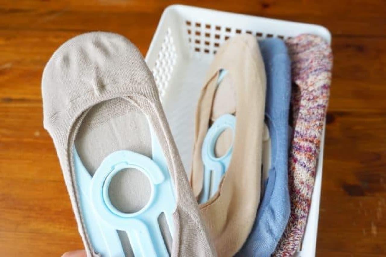 100均「靴下洗いの三兄弟」