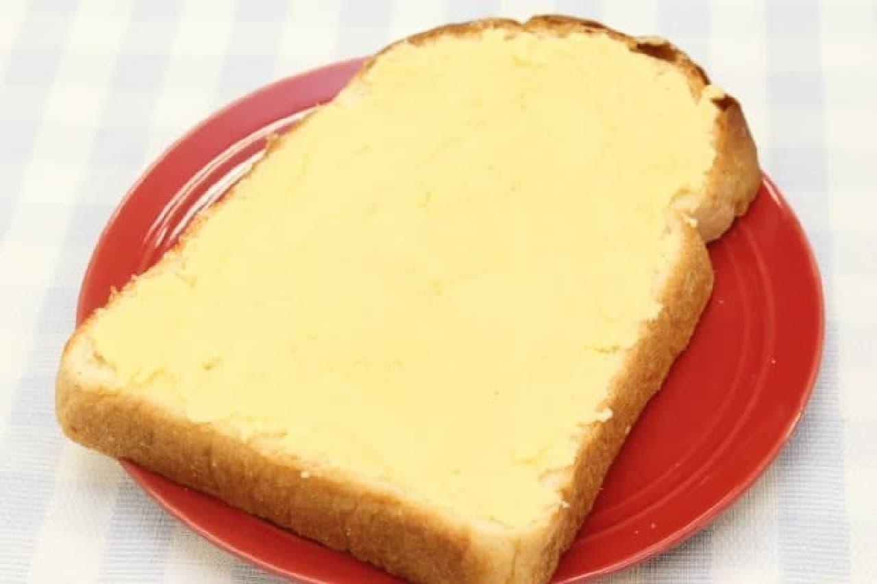ホットケーキミックスで作るメロンパントーストのレシピ