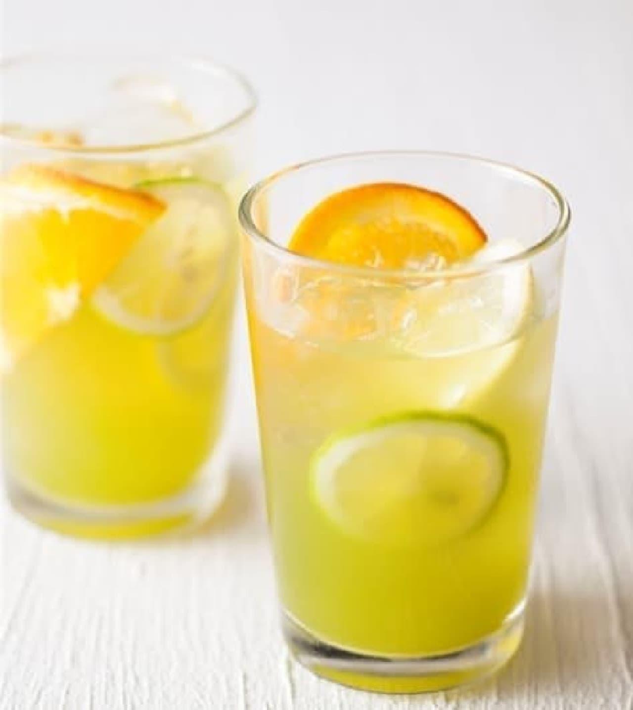 粉末清涼飲料「辻利 宇治抹茶入り グリーン レモンティー」