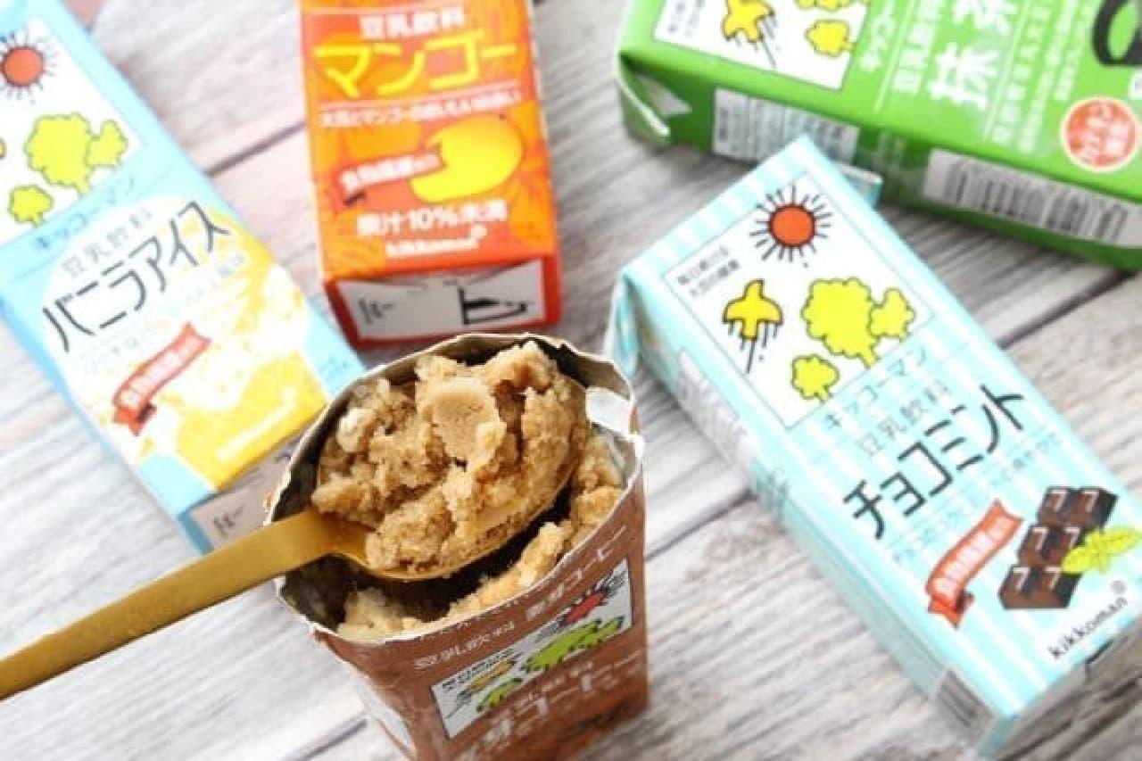 豆乳飲料で作る豆乳アイス