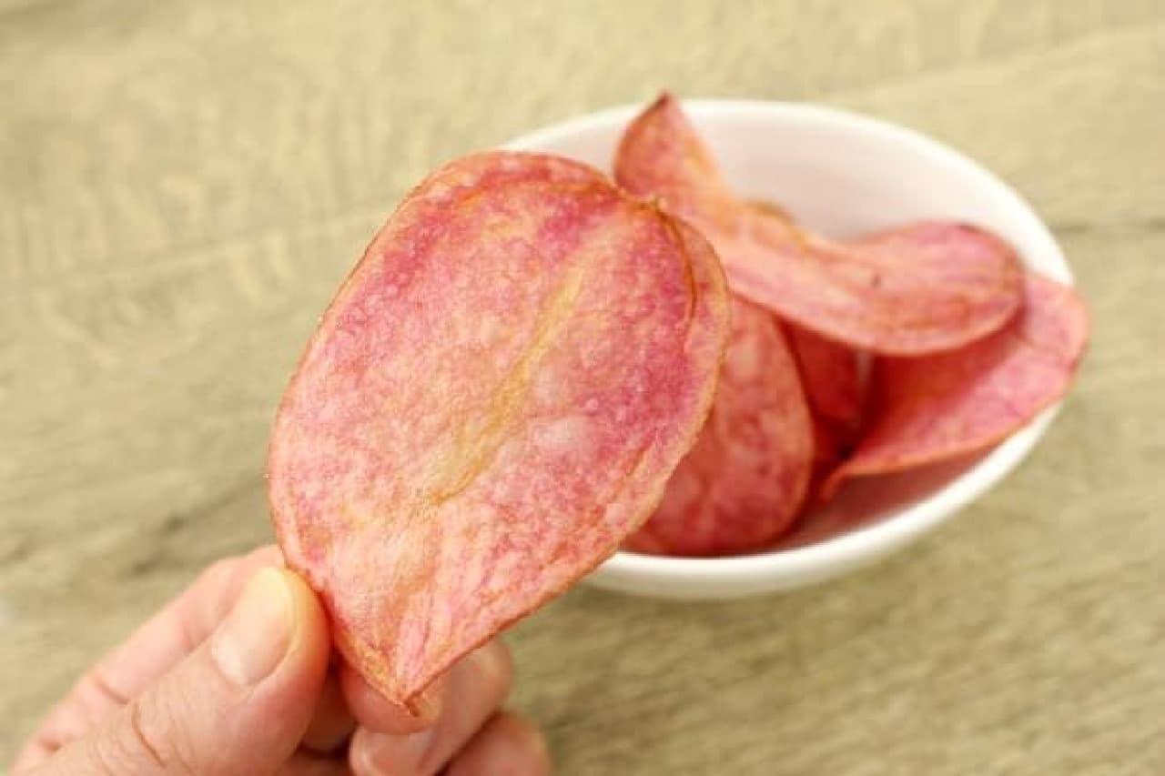 菊水堂のピンクポテトチップス