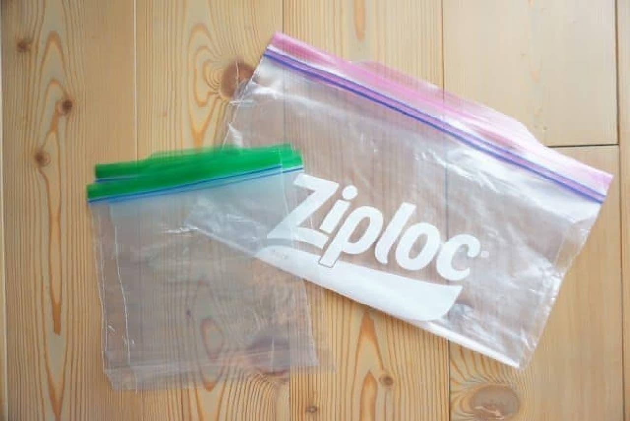 100均のジッパーバッグ