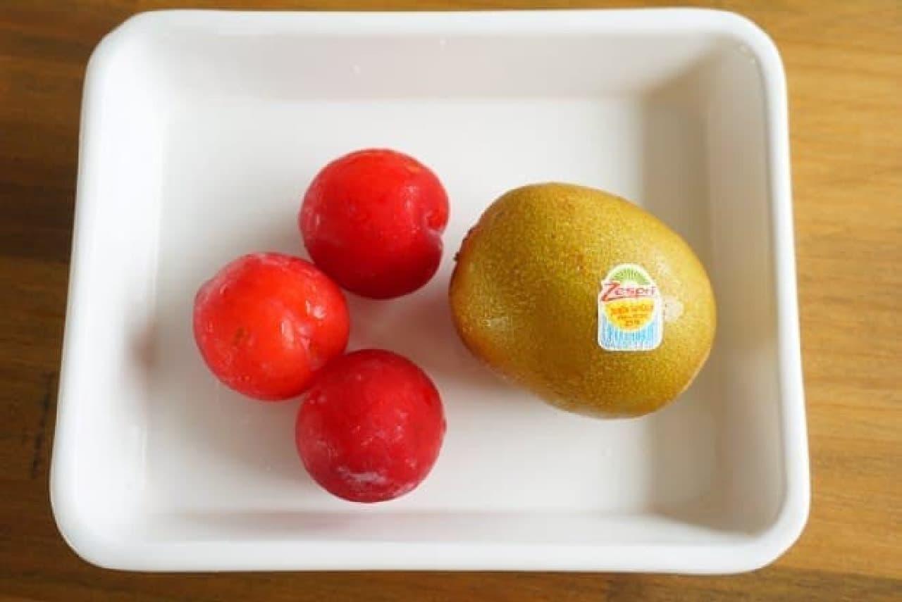 甘酒フルーツシャーベット