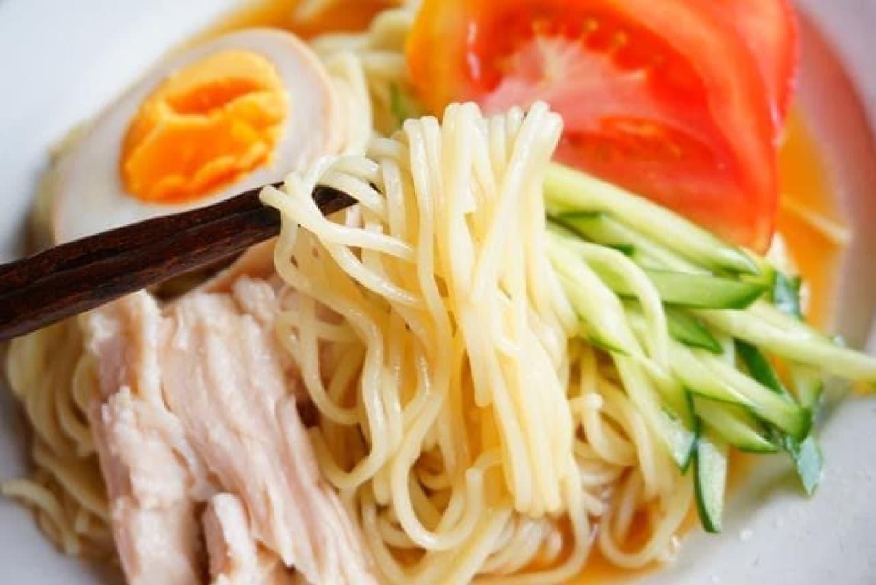 マルタイラーメンの冷やし中華レシピ