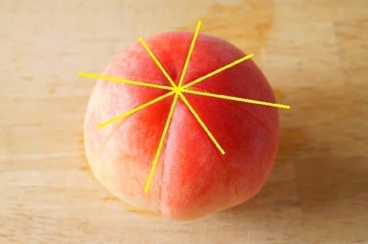 やわらかい桃の簡単なむき方