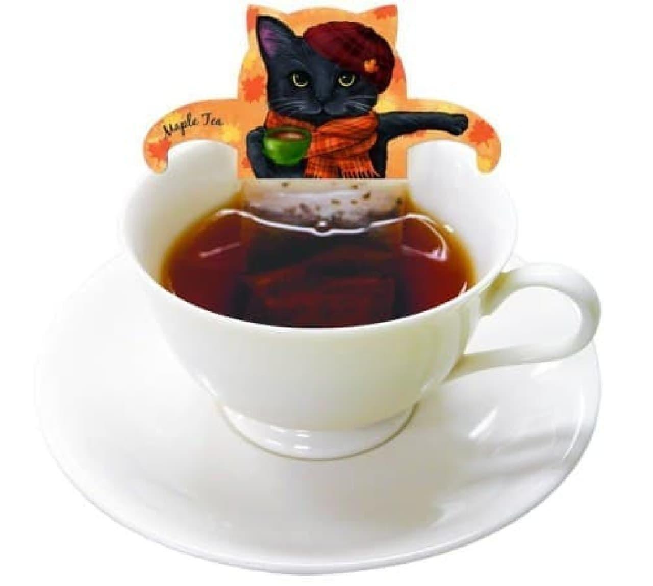 ネコ形紅茶ティーバッグ「キャットカフェ」