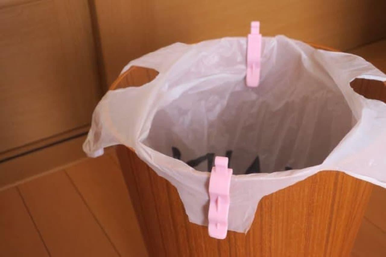 100均 ゴミ袋留めクリップ