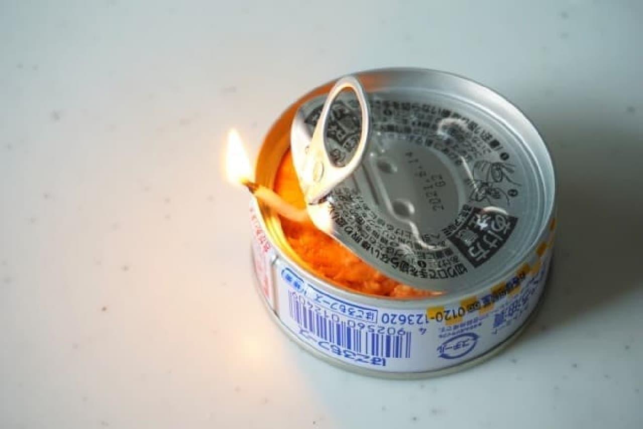 ツナ缶ランプの作り方