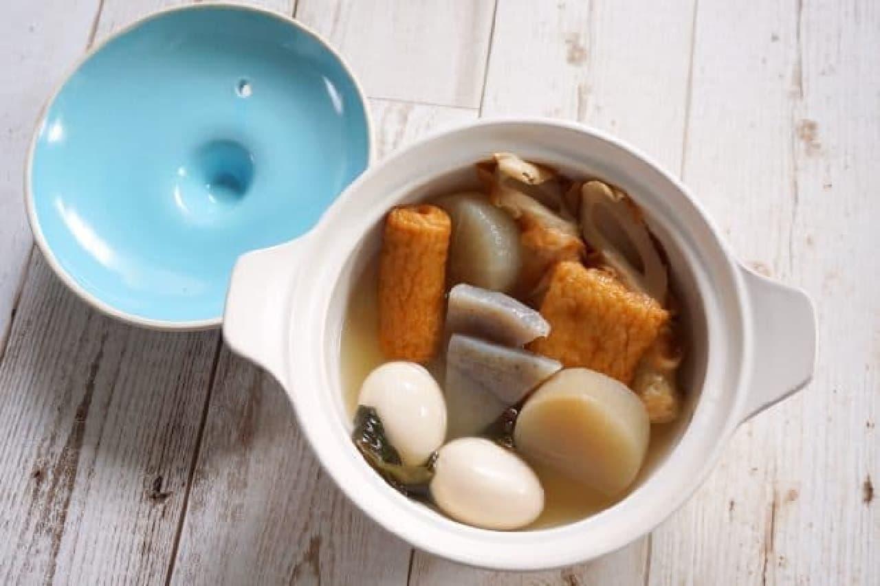 ダイソーのカラー土鍋