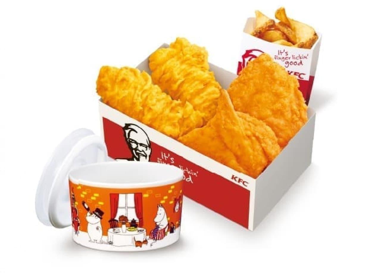KFCムーミン小鉢付きセット