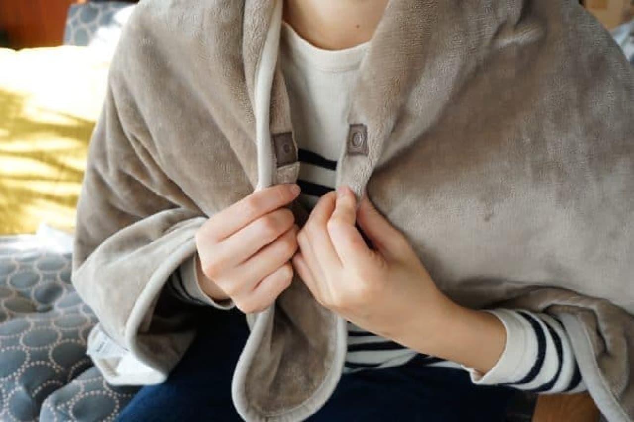 無印良品「羽織れる電気ひざ掛け」
