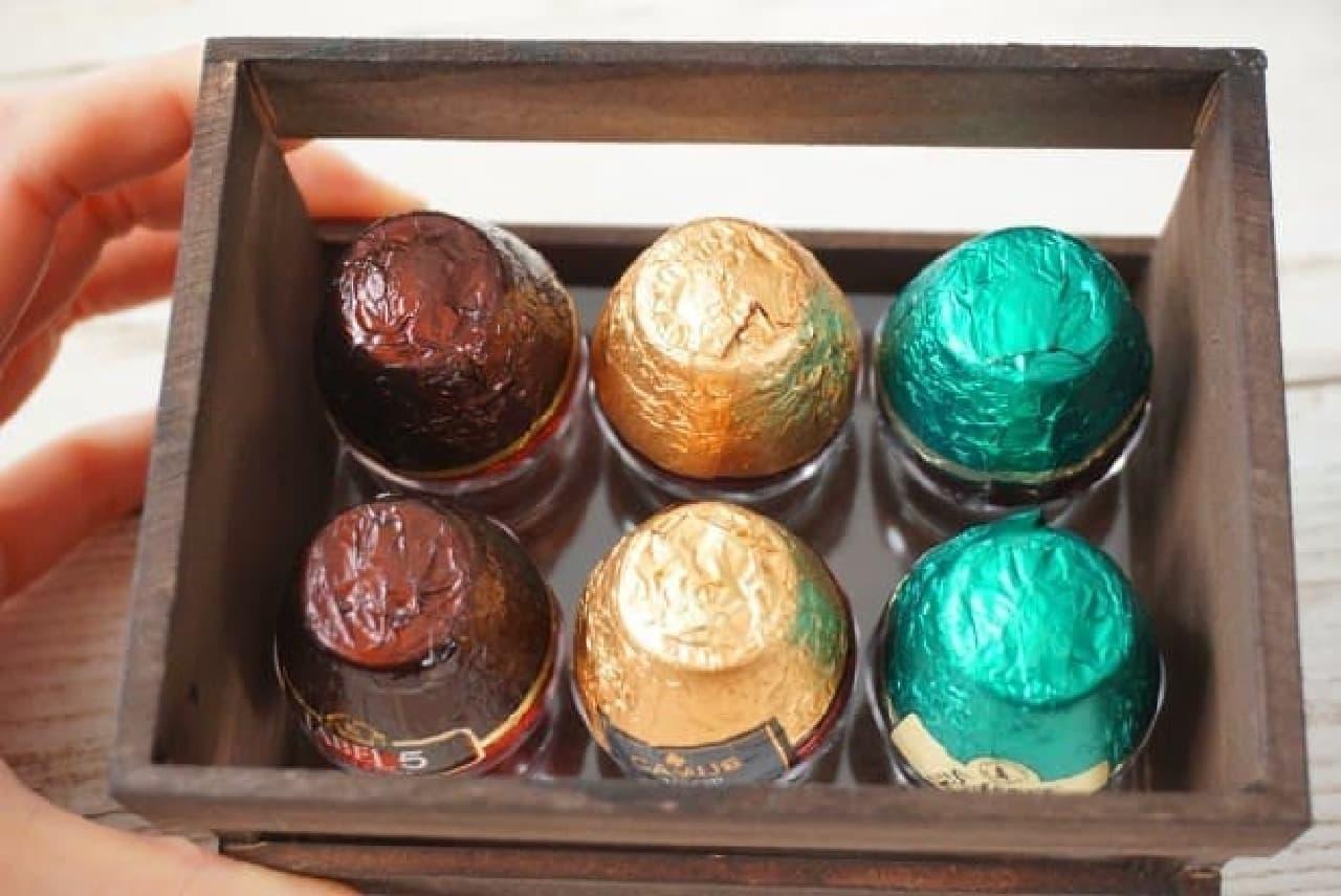 アブテー ボトルチョコ 木箱 グラスリキュール アソート